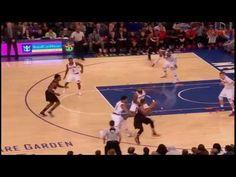 Ed Davis tries to dunk over the taller Porzingis | Blazers vs Knicks 22 ...