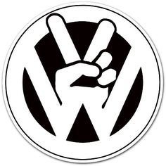 "Volkswagen VW Peace Logo Car Bumper Sticker Decal 4""x4"" by Auto/Moto by enigmacode, http://www.amazon.com/dp/B005T6YJI4/ref=cm_sw_r_pi_dp_NaLhrb0GA8MB6"