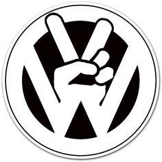 "Volkswagen VW Peace Logo Car Bumper Sticker Decal 4""x4"" by Auto/Moto by enigmacode, http://www.amazon.com/dp/B005T6YJI4/ref=cm_sw_r_pi_dp_NaLhrb0GA8MB6"