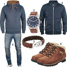 Herbst-Outfit in Blau und Braun (m0591) #outfit #style #fashion #menswear #herren #männer #shirt #mode #styling #sneaker #menstyle #mensfashion #menswear #inspiration #shirt #cloth #clothing #ootd #herrenoutfit #männeroutfit