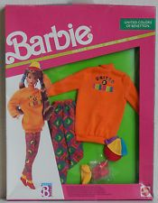BARBIE UNITED COLORS OF BENETTON / FASHIONS / HABILLAGE / VETEMENT / 1990 / NRFB