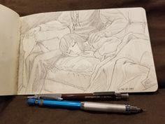 Doodles in pencil. Chise Hatori, Elias Ainsworth, The Ancient Magus Bride, I Cant Sleep, Comic Pictures, Anime Comics, Miraculous Ladybug, Cartoon Art, Neko