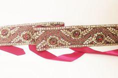 Bridal sash,Handmade,Cummerbund,Waistband,Zari,Embroidered,Rhinestone,Maroon #cummerbund