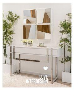 Interior Balcony, Modern Front Door, Living Room Arrangements, Living Room Decor, Dining, Mirror, Space, Luxury, Table
