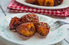 banana and cinnamon and ALL good for you. YUM. Had deep fried bananas ...