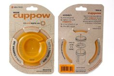 Amazon.com: Original Cuppow Wide - Drinking Lid for Wide Mouth Canning Jar! - Orange: Kitchen & Dining