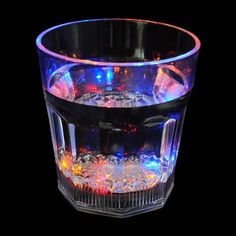 Flashing Panda 8 oz LED Light-Up Flashing Rocks / Whiskey Glass Water Lighting, Light Water, Light Up, Celebrities Then And Now, Mug Cup, Shot Glass, Whiskey, Beer, Mugs