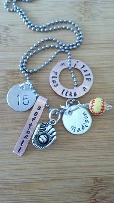 Personalized sports  softball baseball football by McMakinDesigns, $21.00