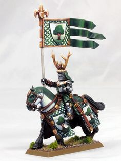 A Games Workshop Bretonnian Knight painted by holajaxtv