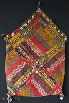 "Afghanistan Pashtun vanity bag. Size as in third image: 16"" x 25"" (41cm x 63cm)"