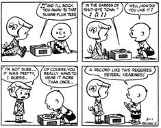 February 01, 1952 - Charlie Brown's vinyl record