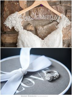 Detail shots for a wedding at Dara's Garden! Photos taken by Shane Hawkins Photography of Knoxville, TN. Wedding dress, Vera Wang, ring, lovely, Mrs., Dara's Garden.