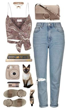Untitled #1423 by timeak ❤ liked on Polyvore featuring Zimmermann, Topshop, Chloé, Aesop, H&M and ALDO