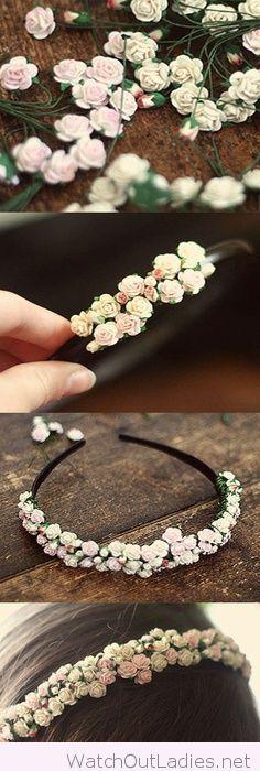 DIY flower headband tutorial More