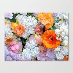 Joy is not in Things, it is in Us! Stretched Canvas by Joke Vermeer - $85.00