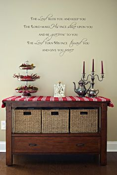love the scripture on the wall. Maybe use the boxes from the bookshelf to fill in the kitchen cart. Fill the holes in the bookshelf with Christmas items? Christmas Time Is Here, Christmas Brunch, Christmas Items, All Things Christmas, Christmas Crafts, Christmas Side, Christmas Decorations, Holiday Decor, Holiday Ideas