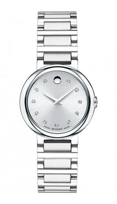 4ac3cb5f79e8 Reloj Movado Dama Reloj De Acero Inoxidable