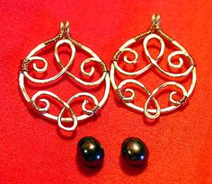 The Real Leopardstripes: New wirework tutorial: Hammered & Bound Two-Tone Dangles