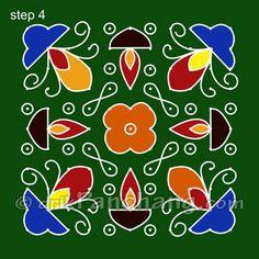 Diwali Rangoli Step 4