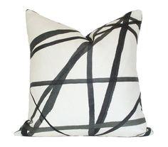 Channels Ebony & Ivory -Kelly Wearstler - 17x17 Designer Pillow Cover (single-sided)