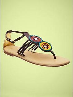 Gap beaded sandals $39.95