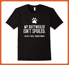 Mens Funny Rottweiler Dog TShirt: My Rottweiler Isn't Spoiled Tee XL Black - Funny shirts (*Partner-Link)