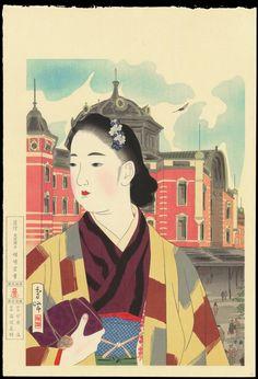 "sumi-no-neko: ""  山川秀峰 Yamakawa Shuho (1898 - 1944) 現在の東京駅 - Tokyo Station At Present, 1942 """