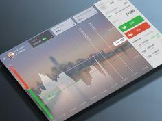 Trading app designed by Alexander Protikhin. Dashboard Ui, Dashboard Design, Web Ui Design, Best Web Design, Element Chart, Ui Elements, Screen Design, Bookmarks, Russia