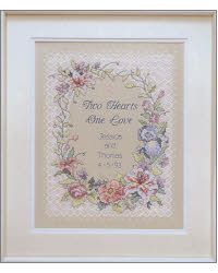 Two Hearts Wedding Record Stamped Kit