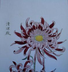 Dahlia flower - Japanese print www.andersonlandscapedesign.co.uk/blog