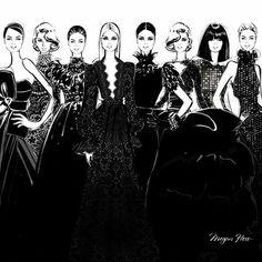 Megan Hess Megan Hess Illustration, Illustration Art, Fashion Prints, Fashion Art, Fashion Design, Kerrie Hess, Fashion Silhouette, Beautiful Sketches, Fashion Sketches