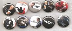 James Bond Casino Royale Skyfall 10 pinbacks buttons badges pins Great Set saw on etsy onehappygran is the seller James Bond Casino Royale, Shaken Not Stirred, Skyfall, Button Badge, Badges, Buttons, Unique Jewelry, Handmade Gifts, Etsy