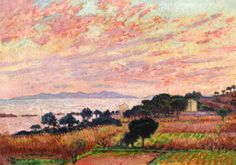 The Bay at Sunset - Theo van Rysselberghe