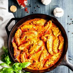 Golden chicken in a creamy, garlicky, paprika sauce. You'll have dinner on the table in no time!