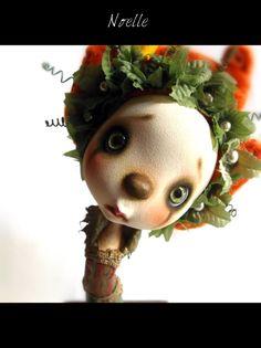 ooak  Art doll NoelleChristmas art doll by AnthiArtdolls on Etsy, €170.00