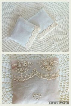 Handmade / Bridal / Wedding Favors Lavender Pillow Bags Sachet Set of 50 pcs with Lace / Vintage / Country Wedding / Wedding Gifts /