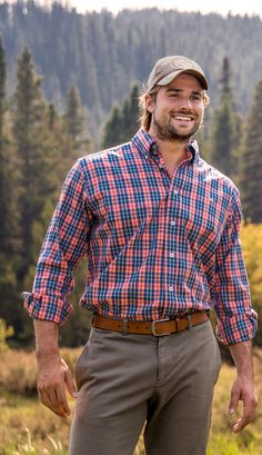 Be the king of the South! The King Windowpane Dress Shirt is sure to be your new favorite plaid button-down. #southernmarsh #somarsh