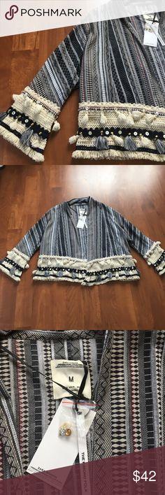 """Zara kimono jacket. New with tag. 100% cotton Very nice stylish jacket. Zara premium denim collection. Size M.    24"""" long. Zara Sweaters Cardigans"""