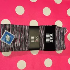 Victoria Secret Sport Socks Step up your workout in knee-high socks, cushioned for a little extra arch support in every stride.  Seamless comfort Body-Wick keeps you cool & dry Machine wash Imported polyester/cotton Victoria's Secret Accessories Hosiery & Socks