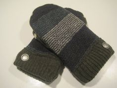 MMC0482 Lake Angelus Wool Mittens  med/lg by MichMittensbyLauri, $23.00