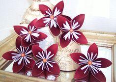 Origami paper flowers Kusudama bouquet by cottagelakegifts on Etsy