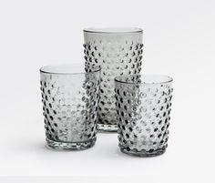 Sofia Glassware - Pale Gray #bluepheasant