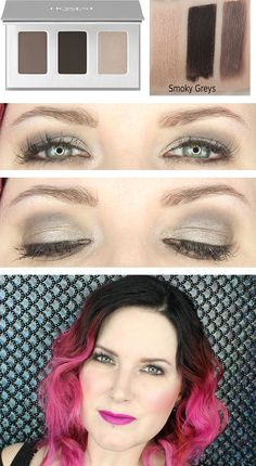 Honest Beauty Smoky Grey Trio Hooded Eye Makeup Tutorial and swatches.