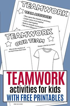 Teamwork activities for kids and families to do together! Help kids learn about teamwork as part of this month's Family Dinner Book Club - includes a free printable list of activities and service projects too! Respect Activities, Fun Team Building Activities, Sports Activities For Kids, Leadership Activities, Counseling Activities, Kindergarten Activities, Preschool Activities, Baseball Activities, Camping Activities