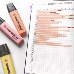 Bullet Journaling Study Tracker #bujo #bulletjournaling #bulletjournal