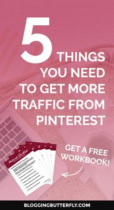 Pinterest for Bloggers: How to use Pinterest to grow your blog or blog-based business. Get a free workbook with the 5 things you need to get more traffic to your blog with Pinterest. Read this and more blogging success tips for beginners: https://blogging
