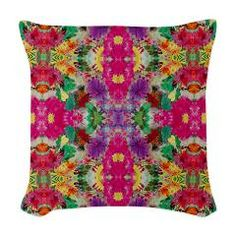 Old Times Pattern Floral Woven Throw Pillow> Old Times Pattern Floral> CircusValley
