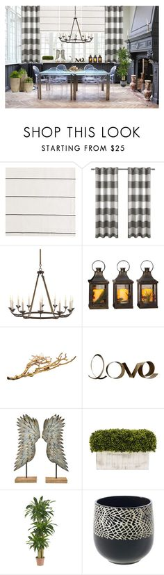 """Eclectic dinning room"" by deborah-518 ❤ liked on Polyvore featuring interior, interiors, interior design, home, home decor, interior decorating, Ballard Designs, Consuelo, Home Essentials and PBteen"