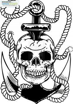 Skull and anchor tattoo flash micaeltattoo ikgyp tattoo rose -  http://tattoosnet.com/skull-and-anchor-tattoo-flash-micaeltattoo-ikgyp-tattoo-rose.html  http://tattoosnet.com/wp-content/uploads/2014/03/Skull-and-anchor-tattoo-flash-micaeltattoo-ikgyp-tattoo-rose.jpg