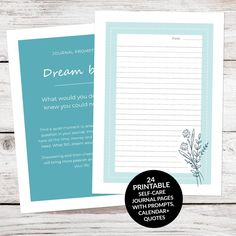 Journaling as a tool for self-care is a wonderful practice that can boost your health, happiness and wellbeing. If you're not sure where to begin with self-care journaling, this 24 page printable self-care journal provides everything you need to get started. #selfcarejournal #selfcare #selfcarejournaling #journalingprompts #selfcarejournalprompts #journalprompts #bulletjournal #journaltherapy #wellness #bujo #planner #undatedcalendar #printableselfcare #monthlyreflection #gratitude